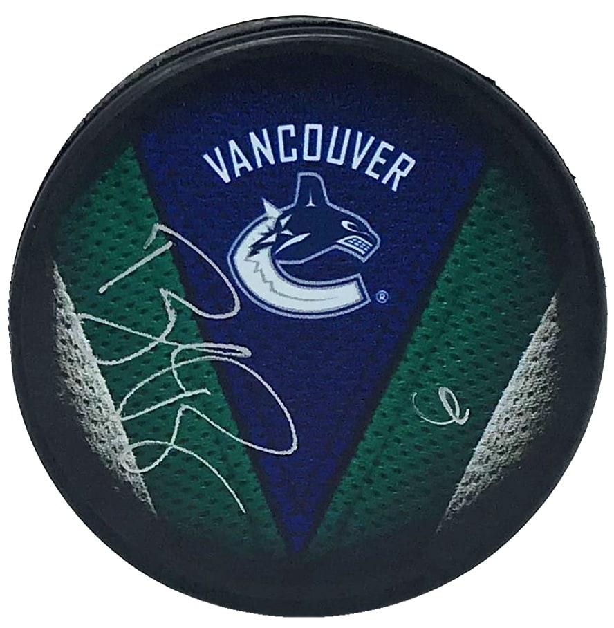 finest selection d9ba0 c08fe Brock Boeser Autographed Vancouver Canucks