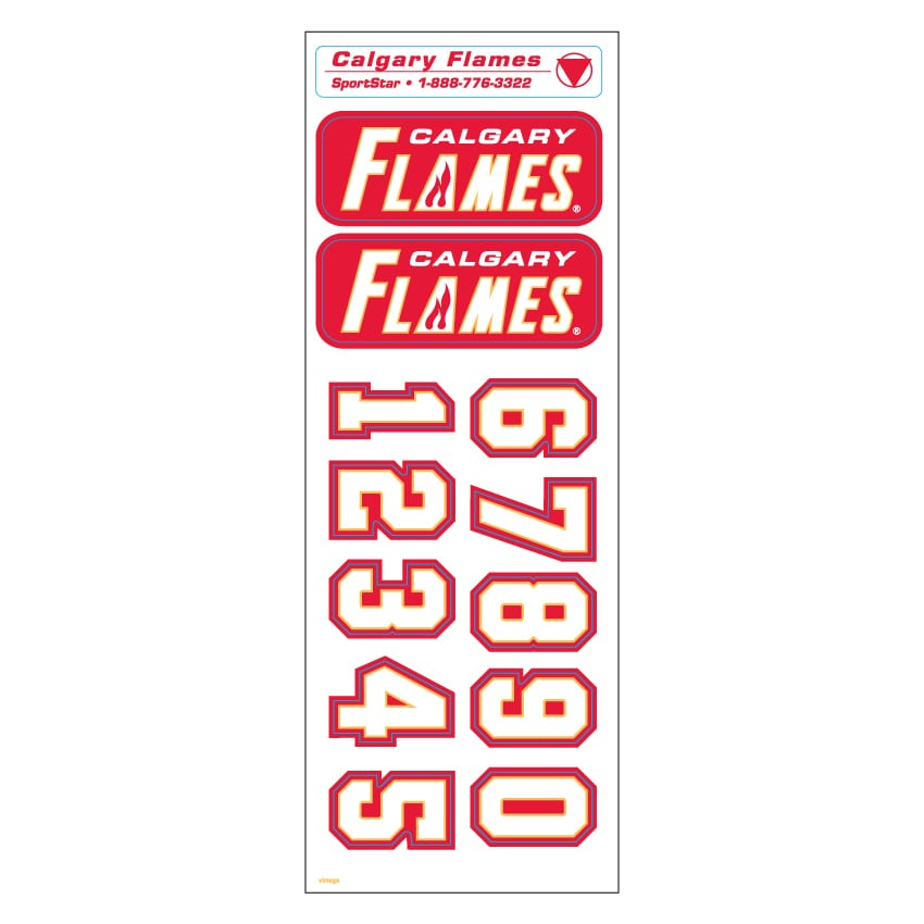 reputable site 79763 1df2d Calgary Flames Vintage Helmet Decal Set