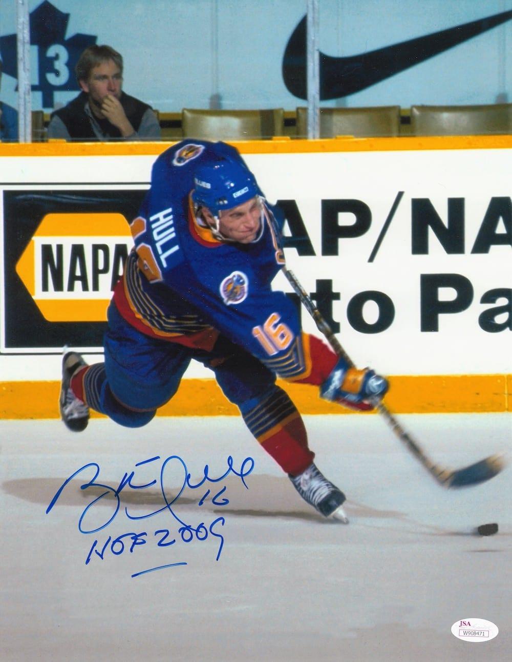 finest selection b4c26 b92bb Brett Hull Autographed St. Louis Blues 11x14 Photo