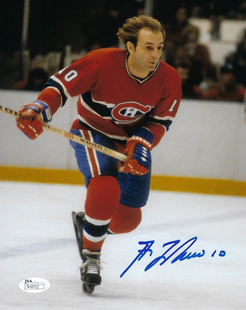sports shoes ae24b af0fb Guy Lafleur Autographed Montreal Canadiens 8x10 Photo