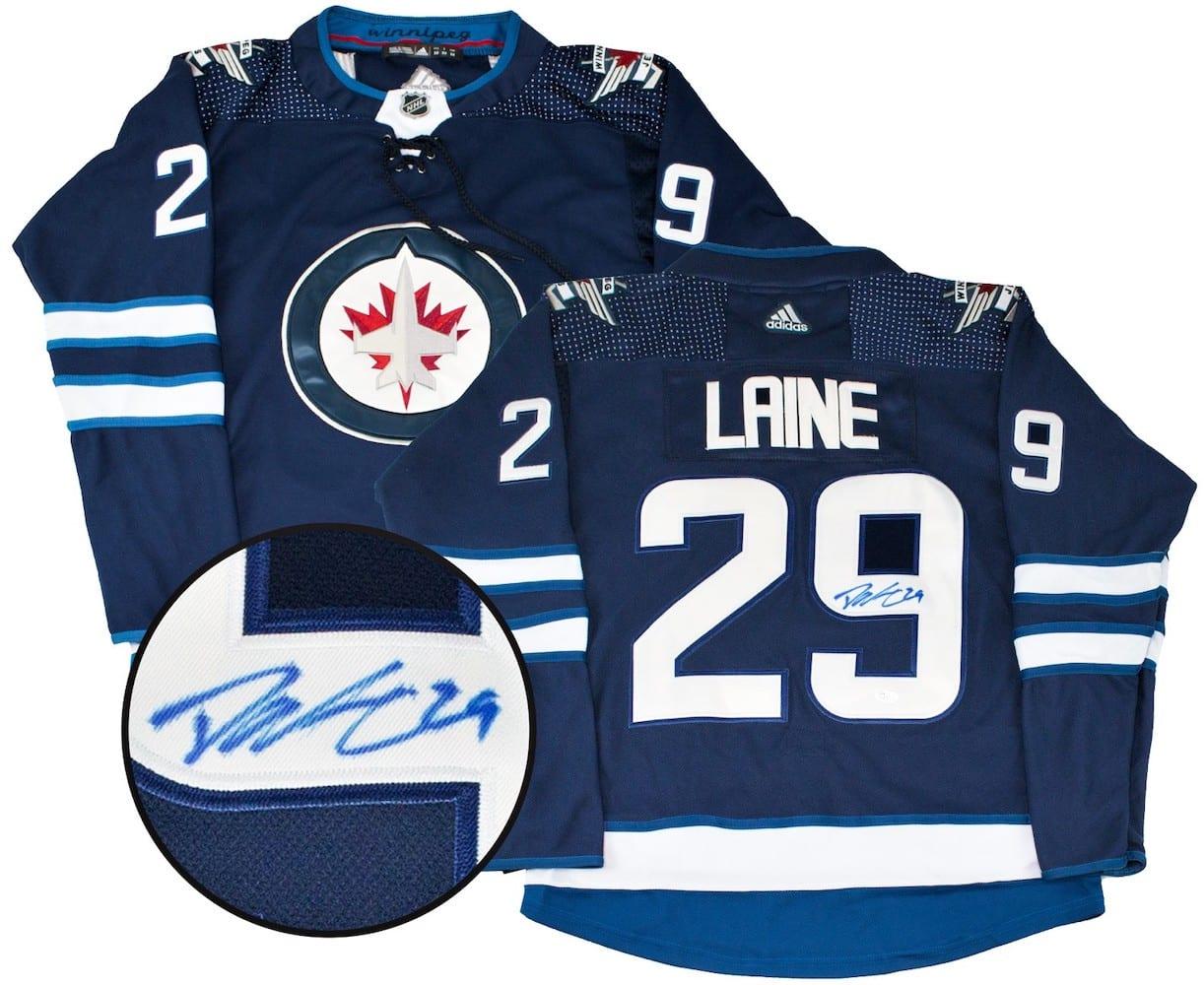 new product c40f1 64a42 Patrik Laine Autographed Winnipeg Jets Jersey