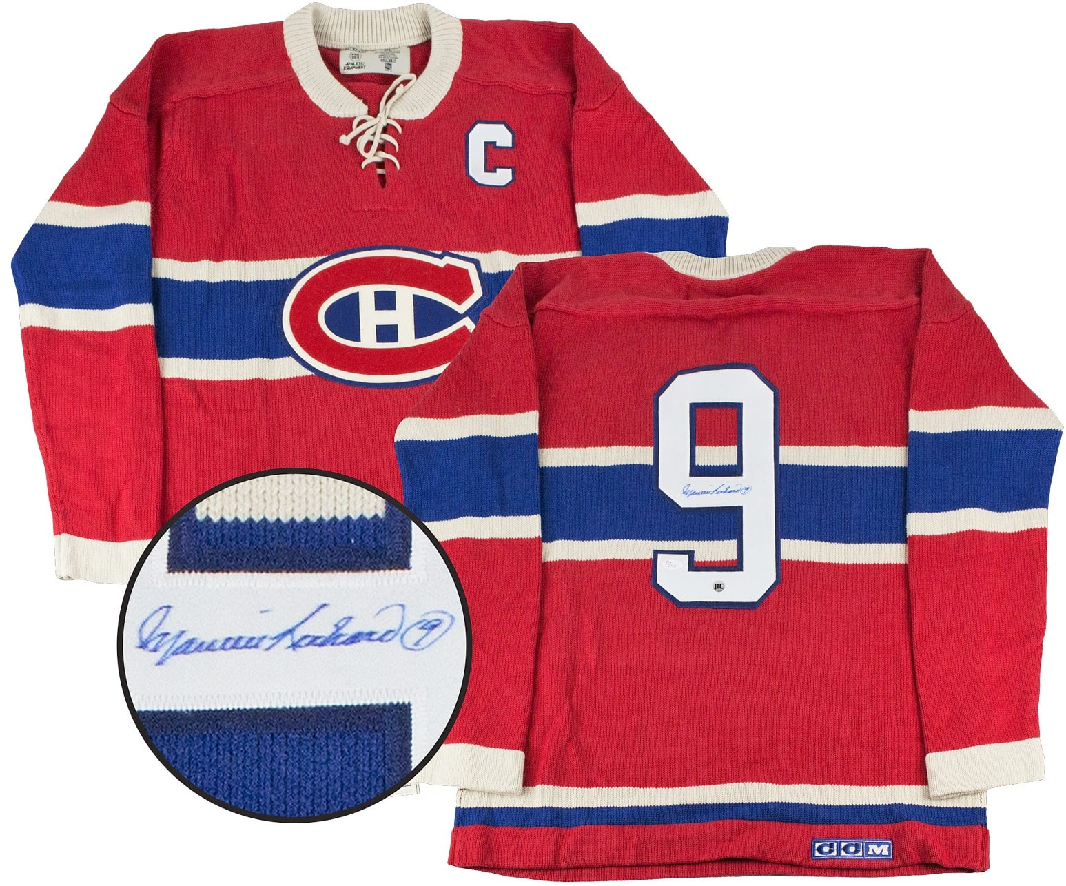 newest collection d0249 89c1d Maurice Richard Autographed Montreal Canadiens Jersey