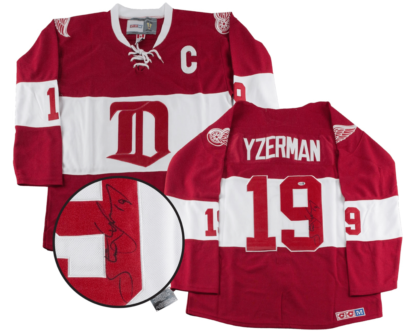 detroit red wings vintage jersey